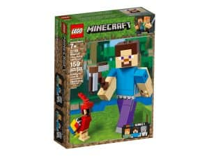 lego 21148 steve bigfig with parrot
