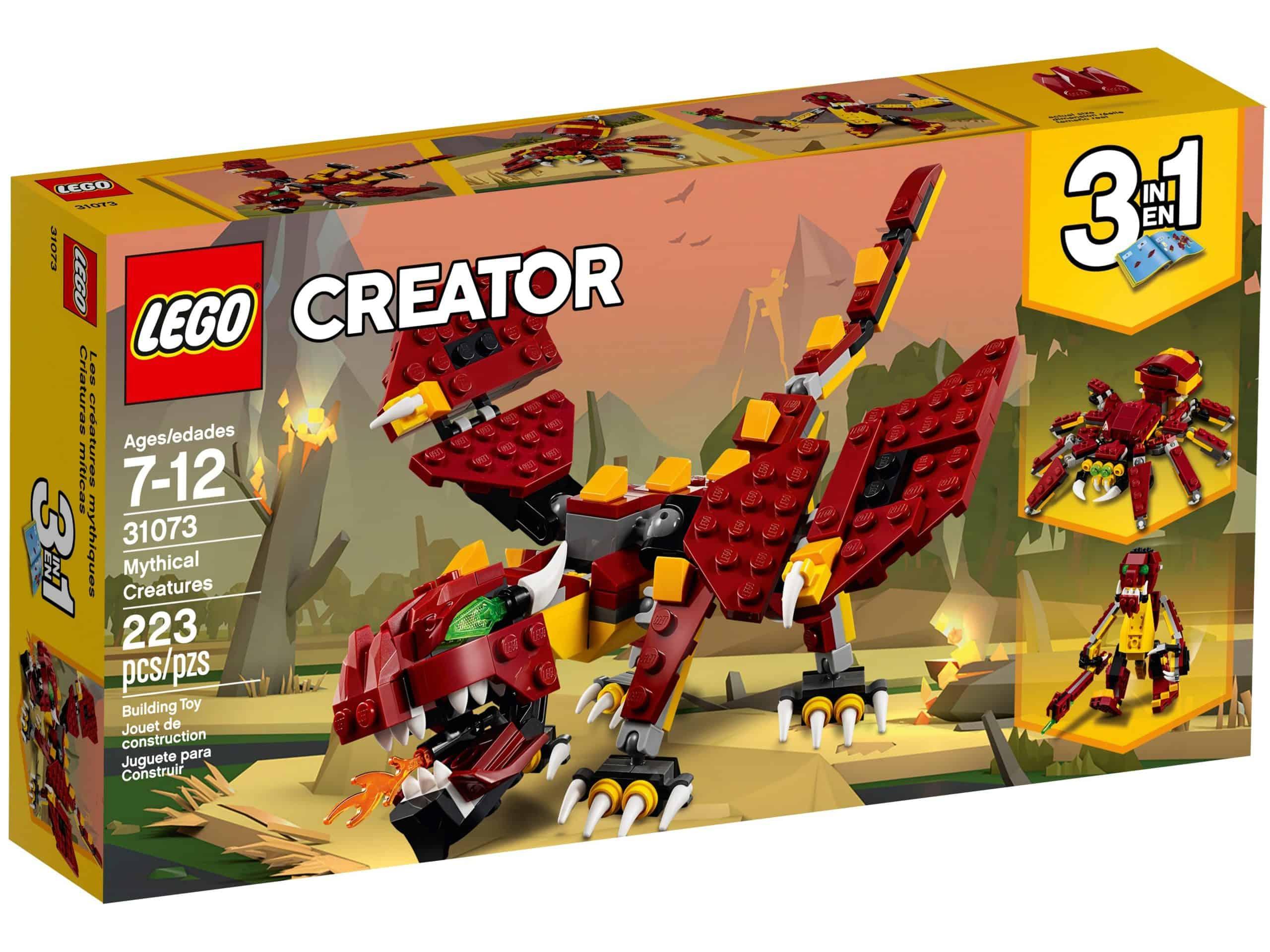 lego 31073 mythical creatures scaled