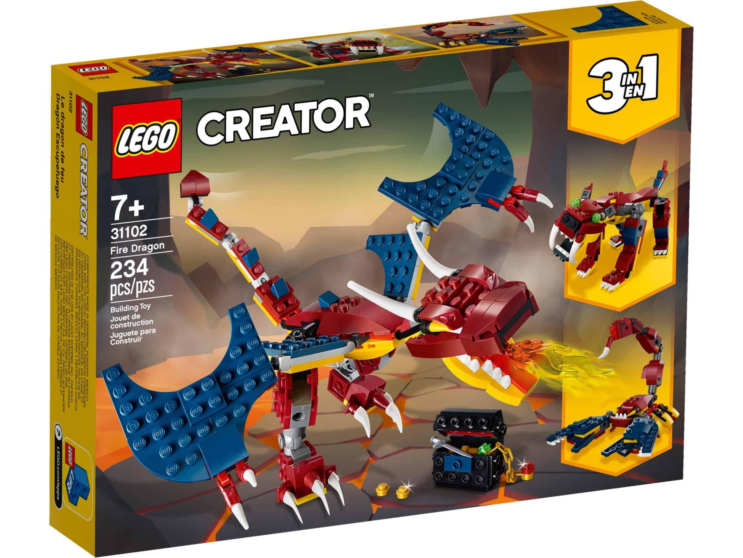 lego 31102 fire dragon scaled