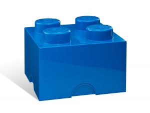 lego 5001383 4 stud blue storage brick