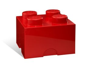 lego 5001385 4 stud red storage brick