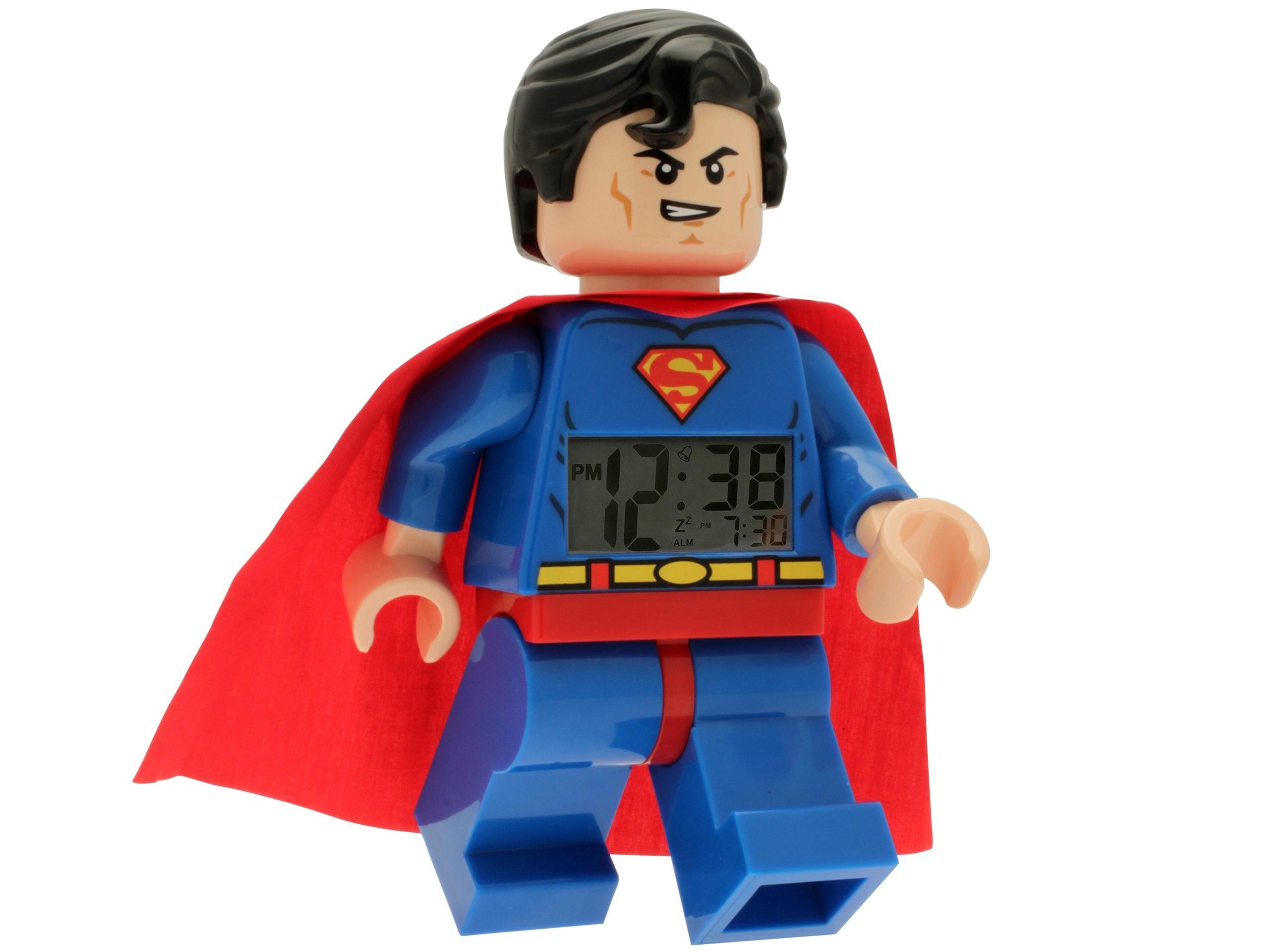 lego 5002424 dc comics super heroes superman minifigure clock scaled