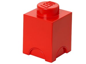 lego 5004267 1 stud red storage brick