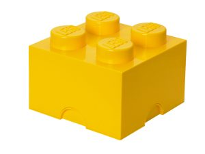 lego 5004893 4 stud yellow storage brick