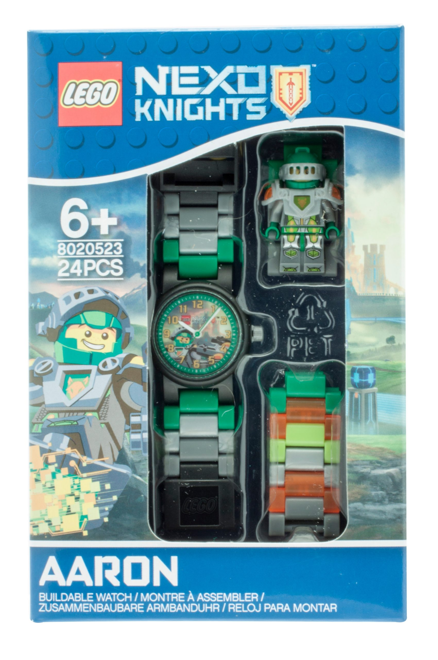 lego 5005114 nexo knights aaron kids buildable watch scaled