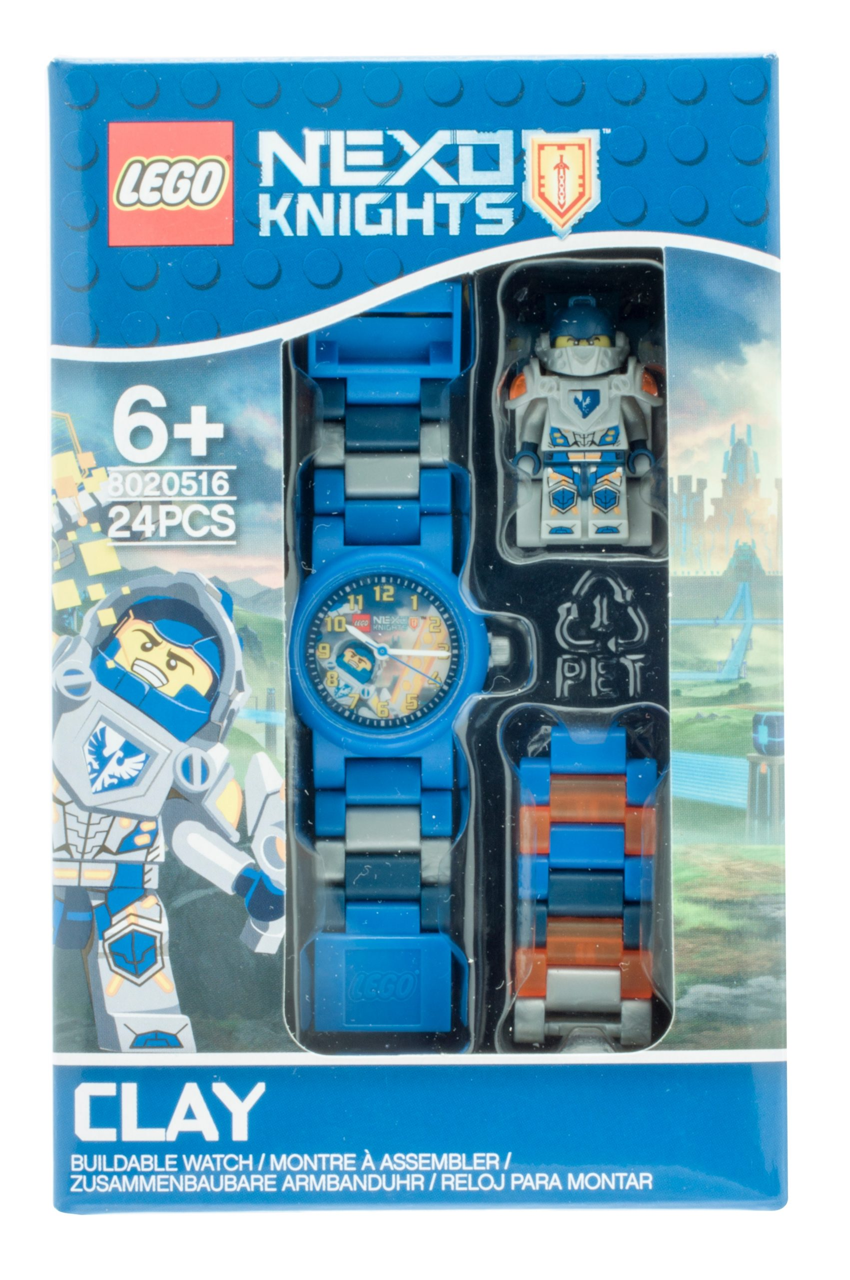 lego 5005116 nexo knights clay kids buildable watch scaled