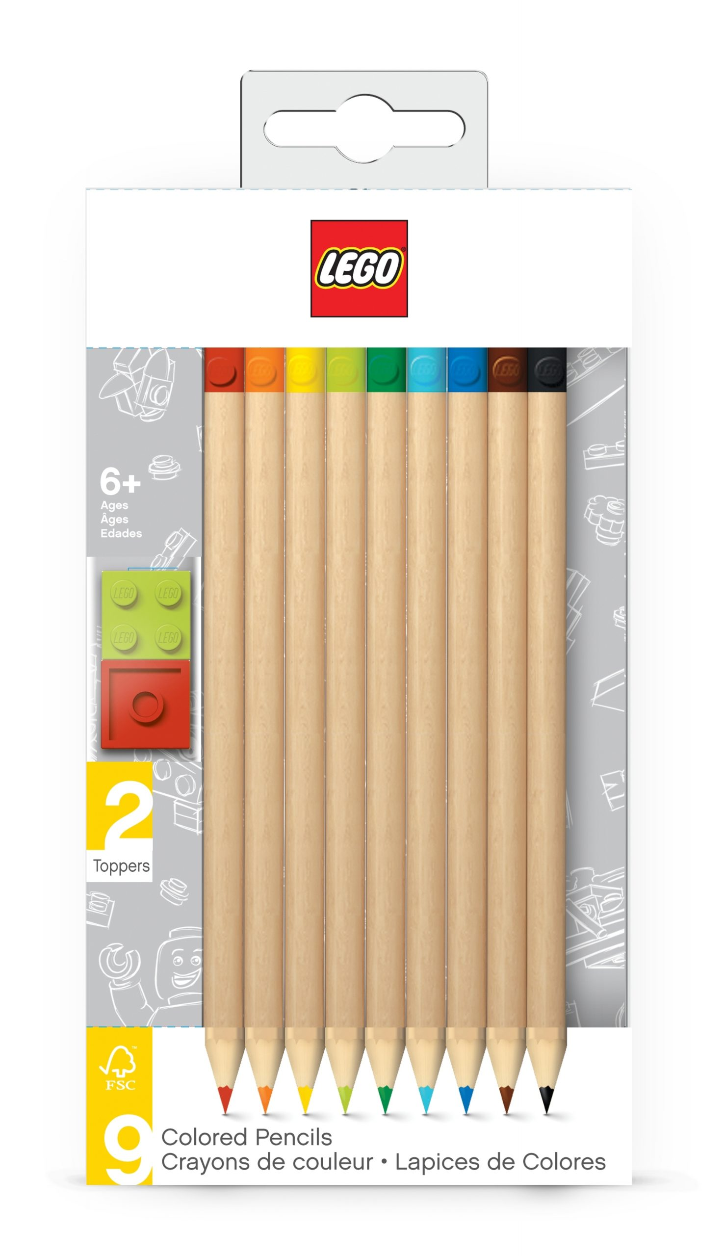 lego 5005148 9 pack colored pencil with toppers pack scaled