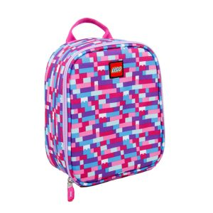 lego 5005354 pink purple brick print lunch bag