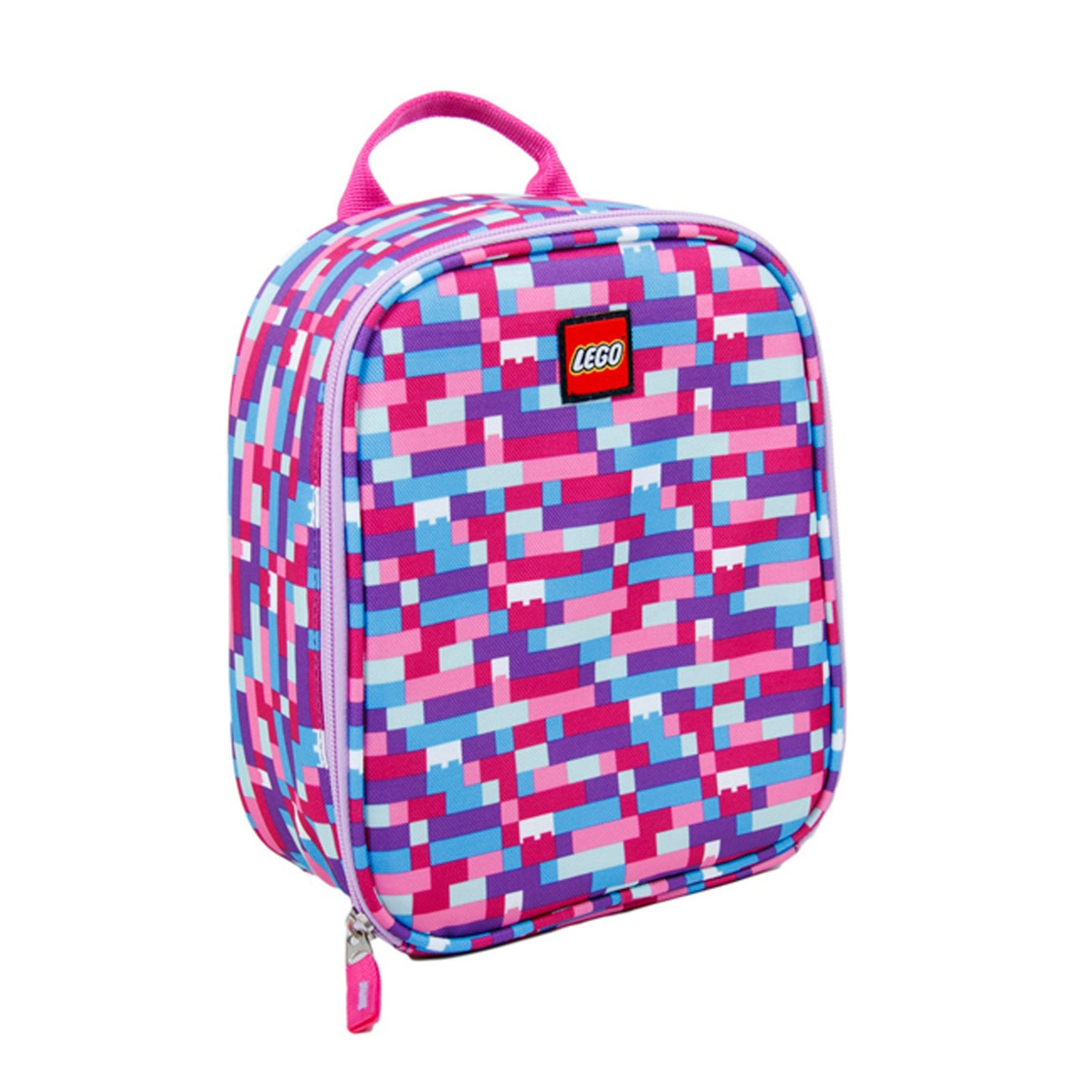 lego 5005354 pink purple brick print lunch bag scaled
