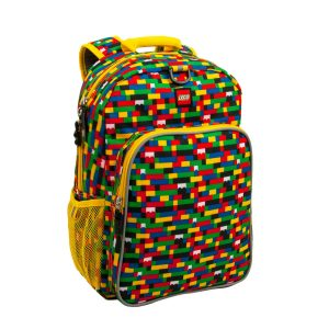 lego 5005356 red blue brick print eco heritage backpack