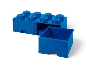 lego 5005399 8 stud bright blue storage brick drawer