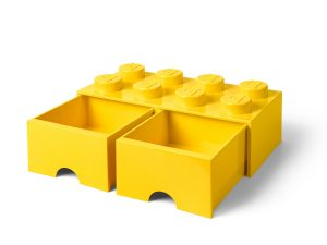 lego 5005400 8 stud bright yellow storage brick drawer