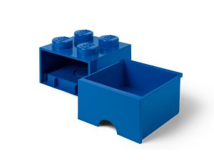 lego 5005403 4 stud bright blue storage brick drawer