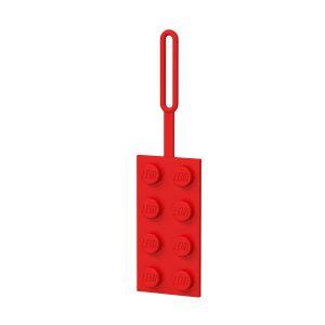 lego 5005542 2x4 red luggage tag