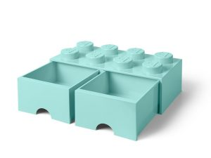 lego 5005721 8 stud aqua light blue storage brick drawer