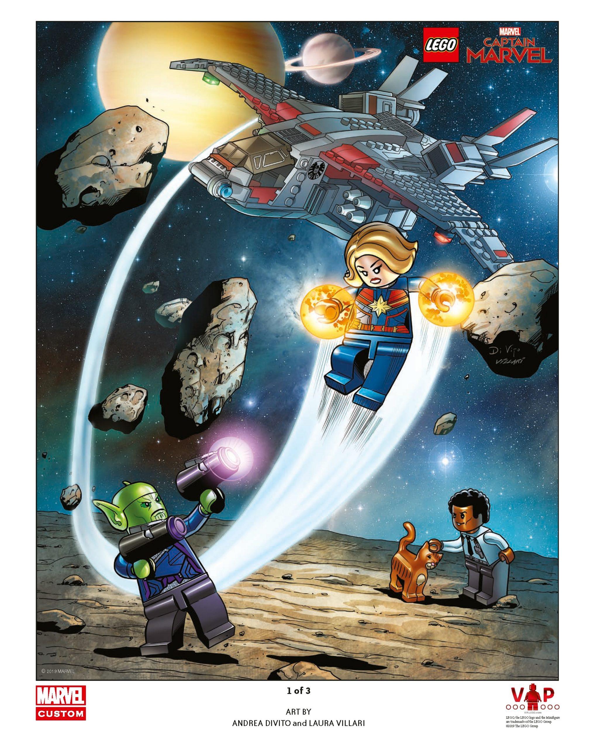 lego 5005877 captain marvel art print 1 of 3 scaled
