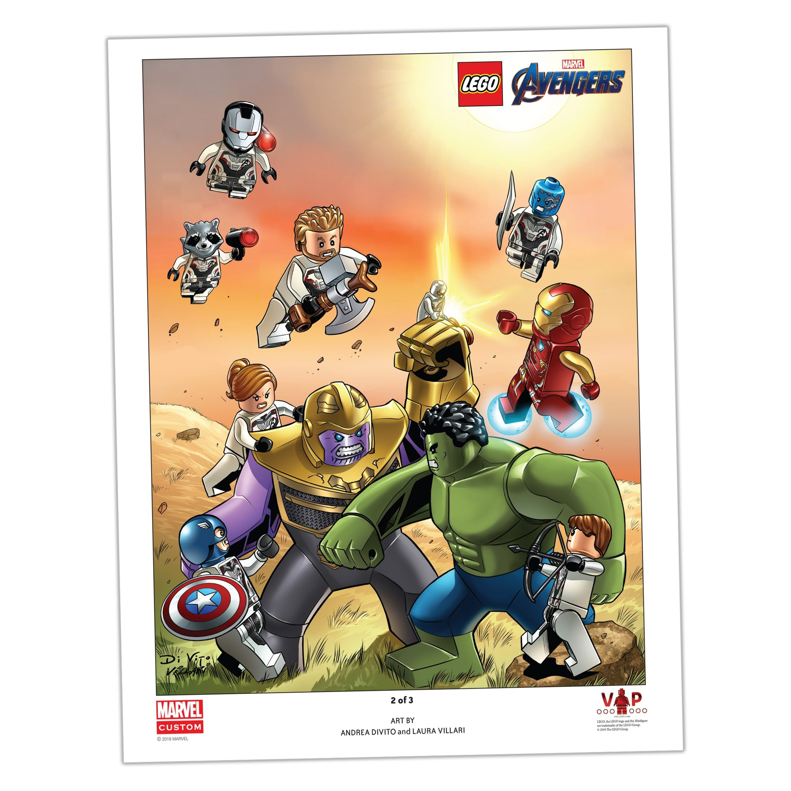 lego 5005881 avengers endgame art print 2 of 3 scaled