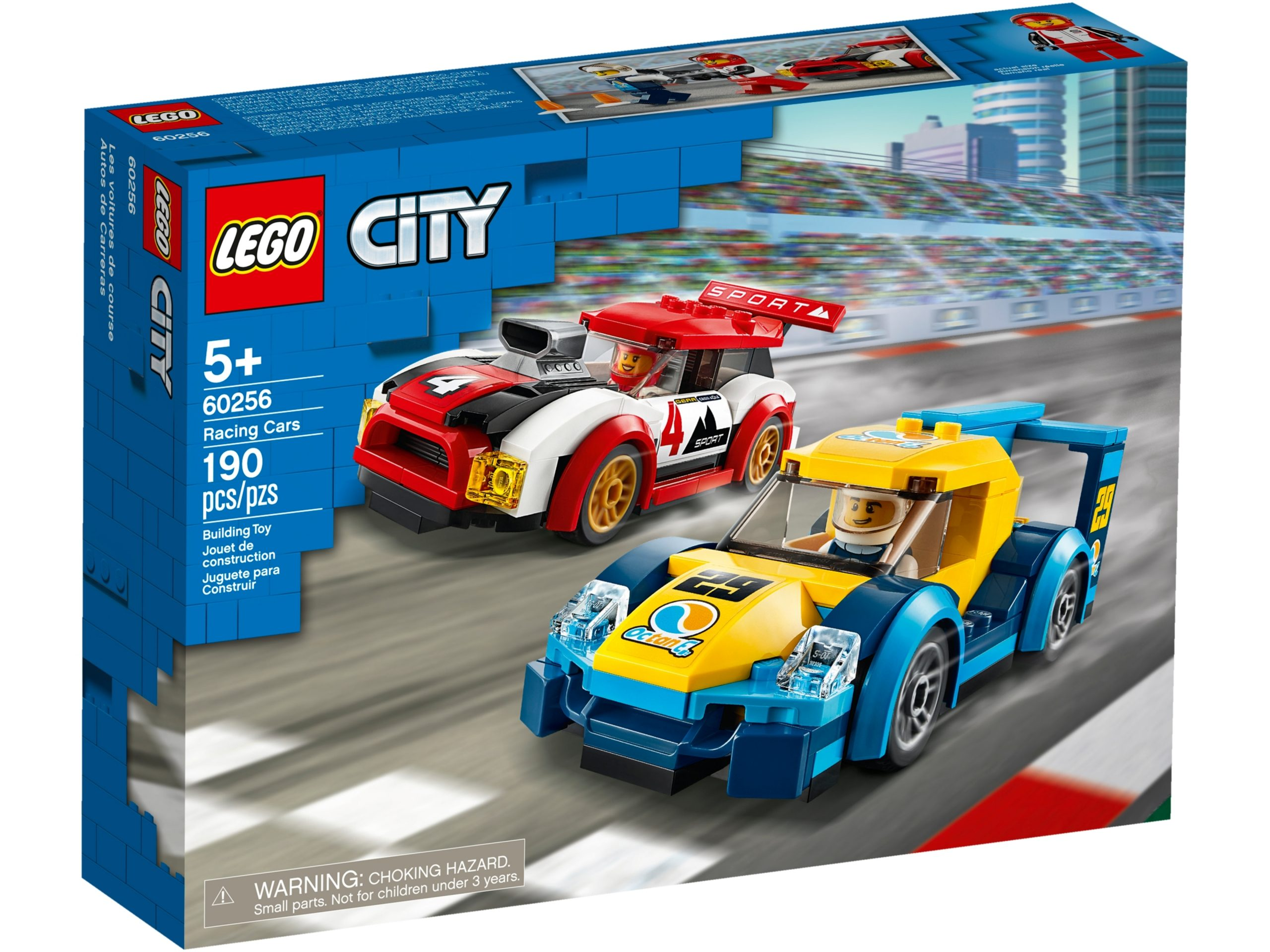 lego 60256 racing cars scaled