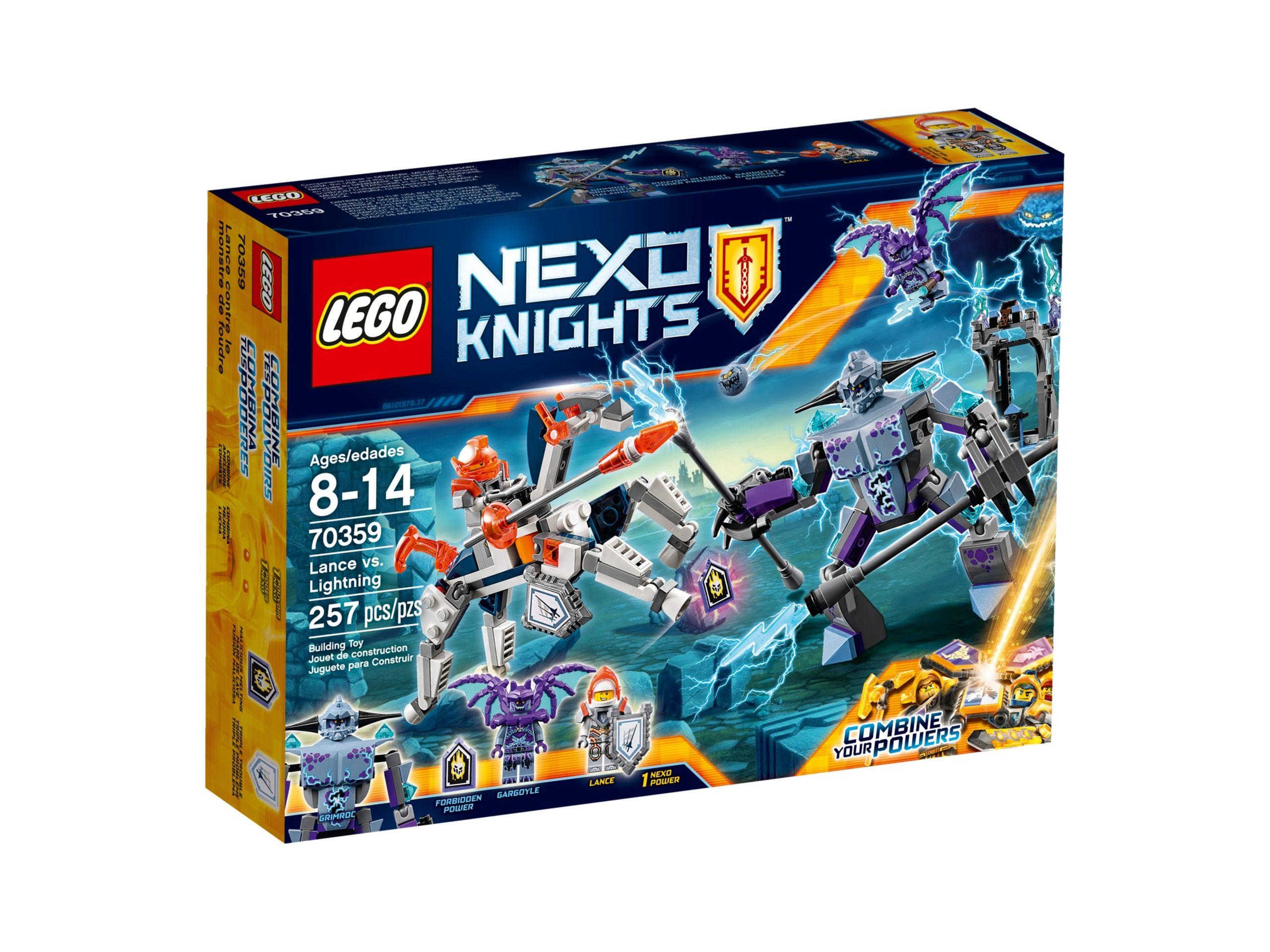 lego 70359 lance vs lightning scaled