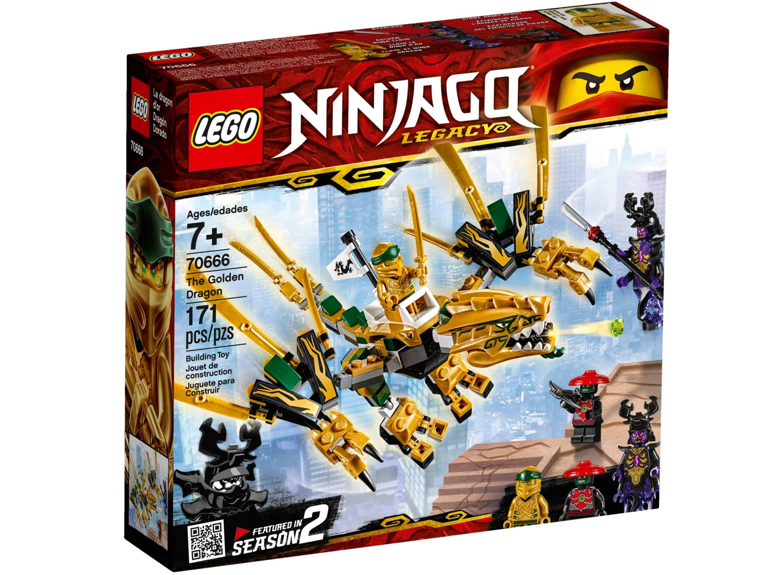 lego 70666 the golden dragon scaled
