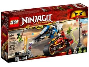 lego 70667 kais blade cycle zanes snowmobile
