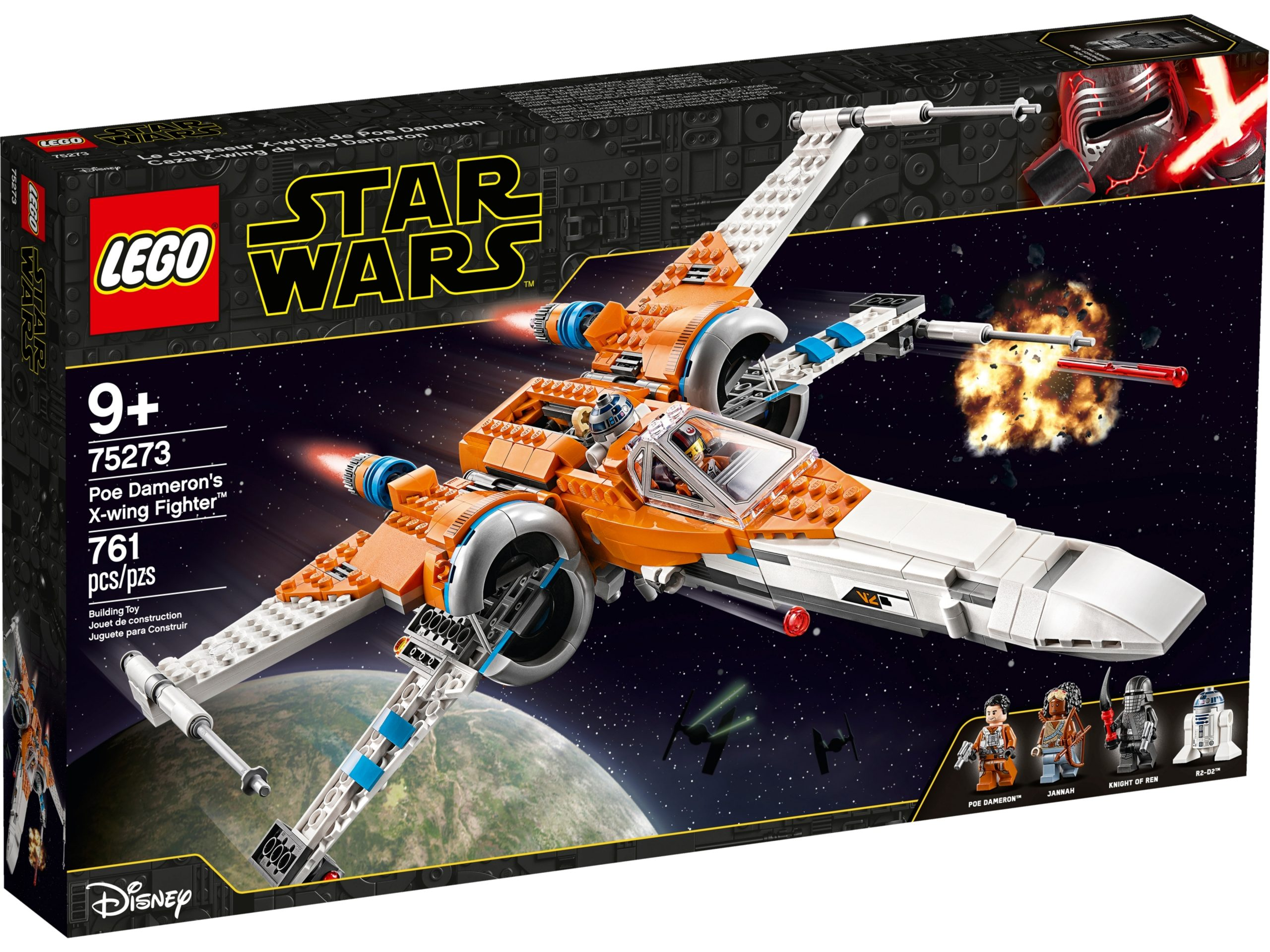 lego 75273 poe damerons x wing fighter scaled