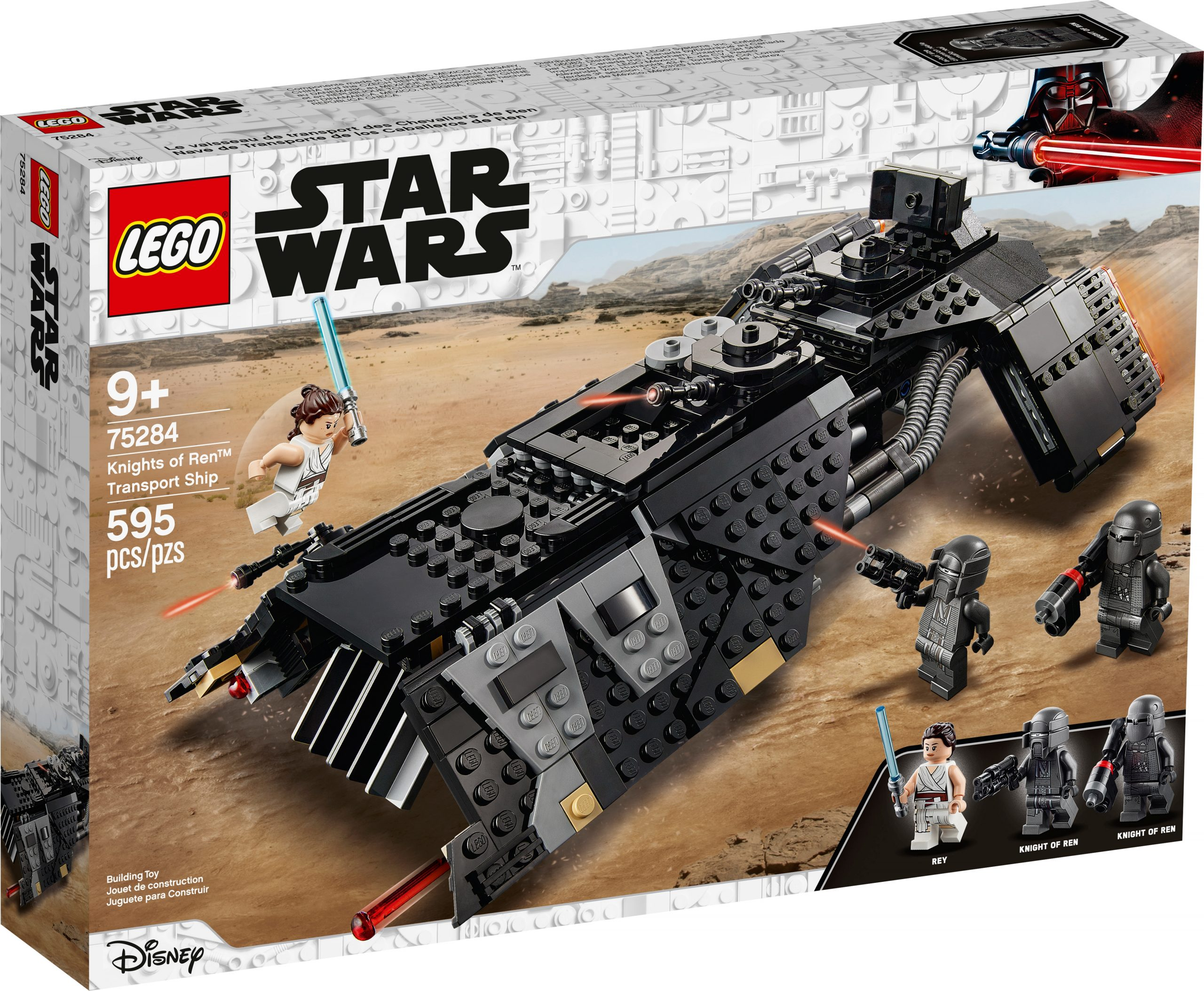 lego 75284 knights of ren transport ship scaled