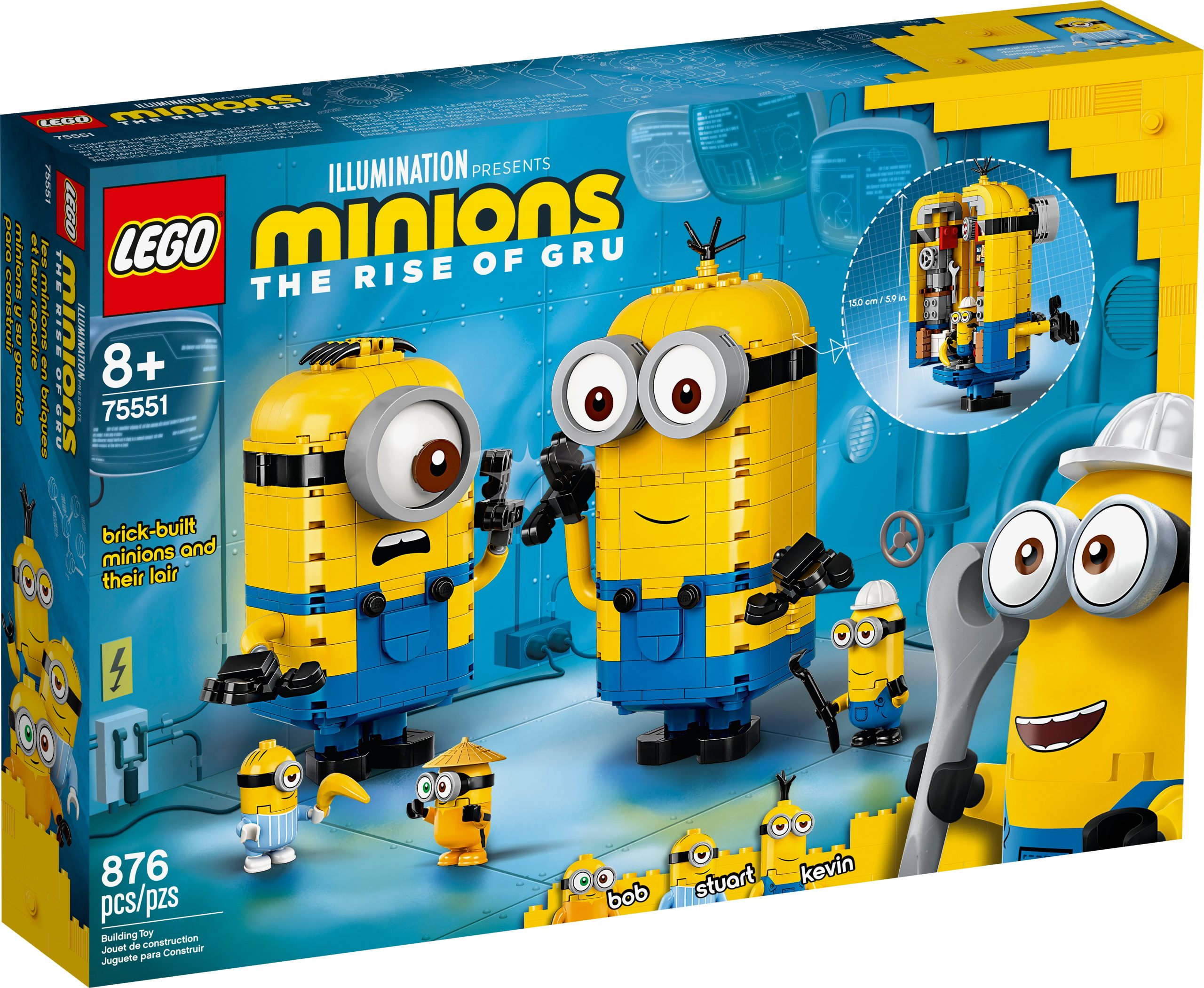 lego 75551 brick built minions and their lair scaled