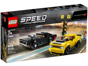 lego 75893 2018 dodge challenger srt demon and 1970 dodge charger r t