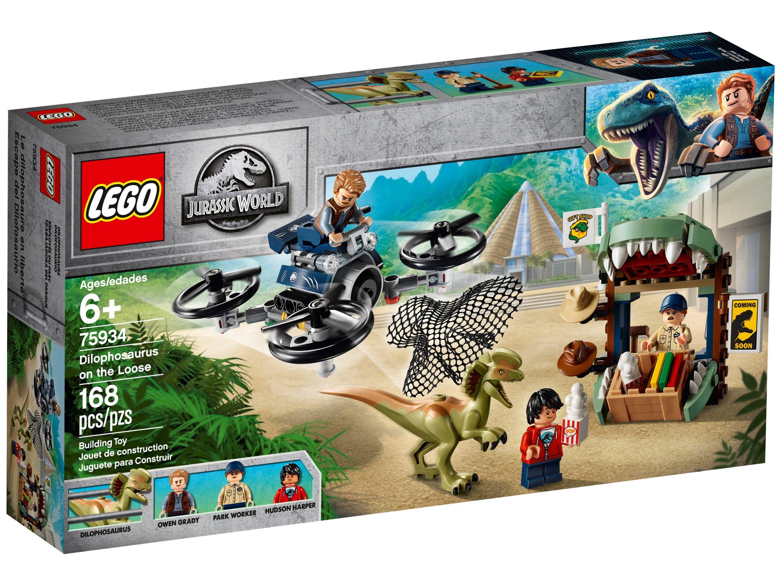 lego 75934 dilophosaurus on the loose scaled