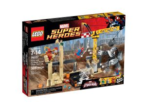 lego 76037 rhino and sandman super villain team up
