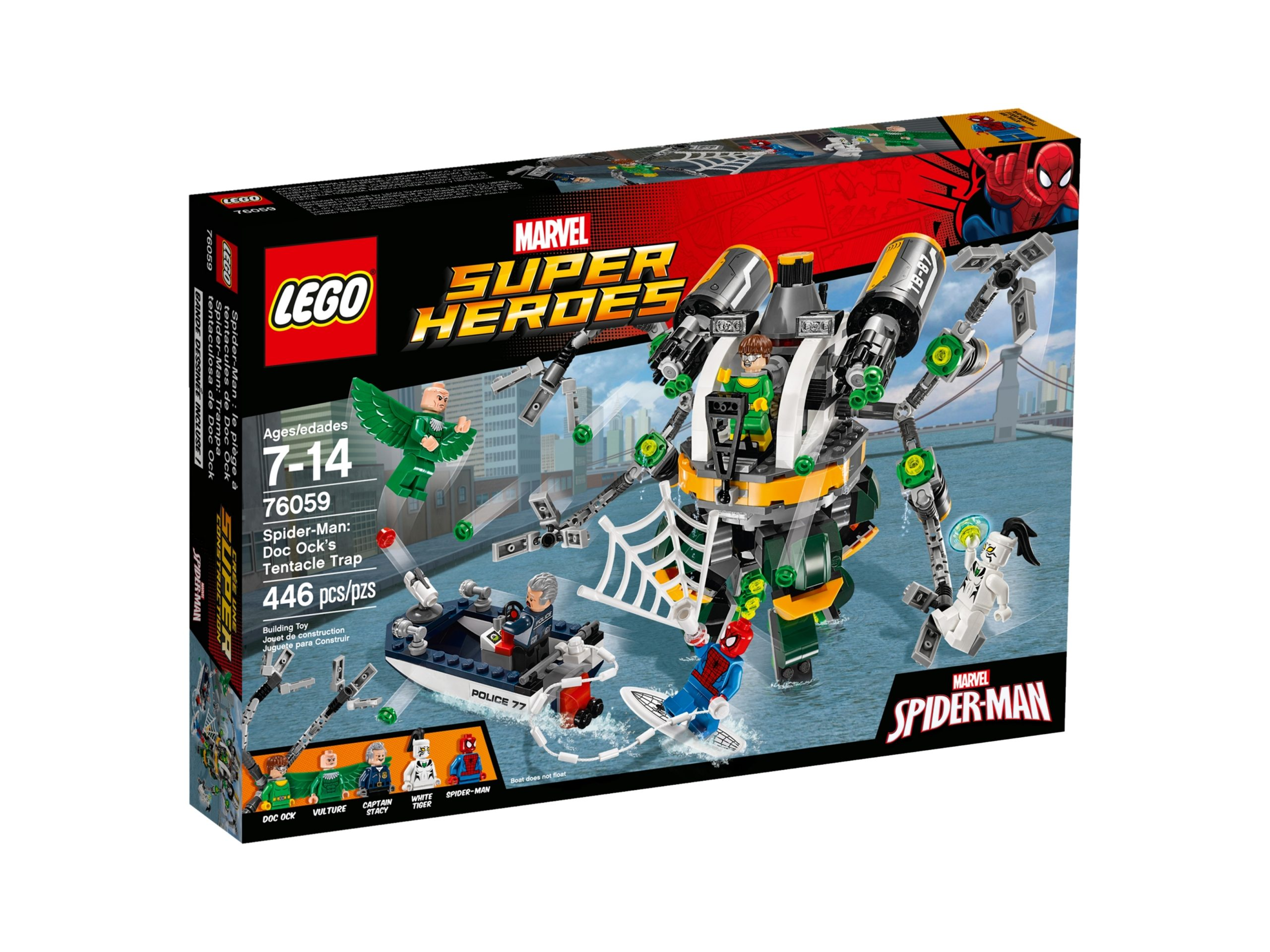 lego 76059 spider man doc ocks tentacle trap scaled