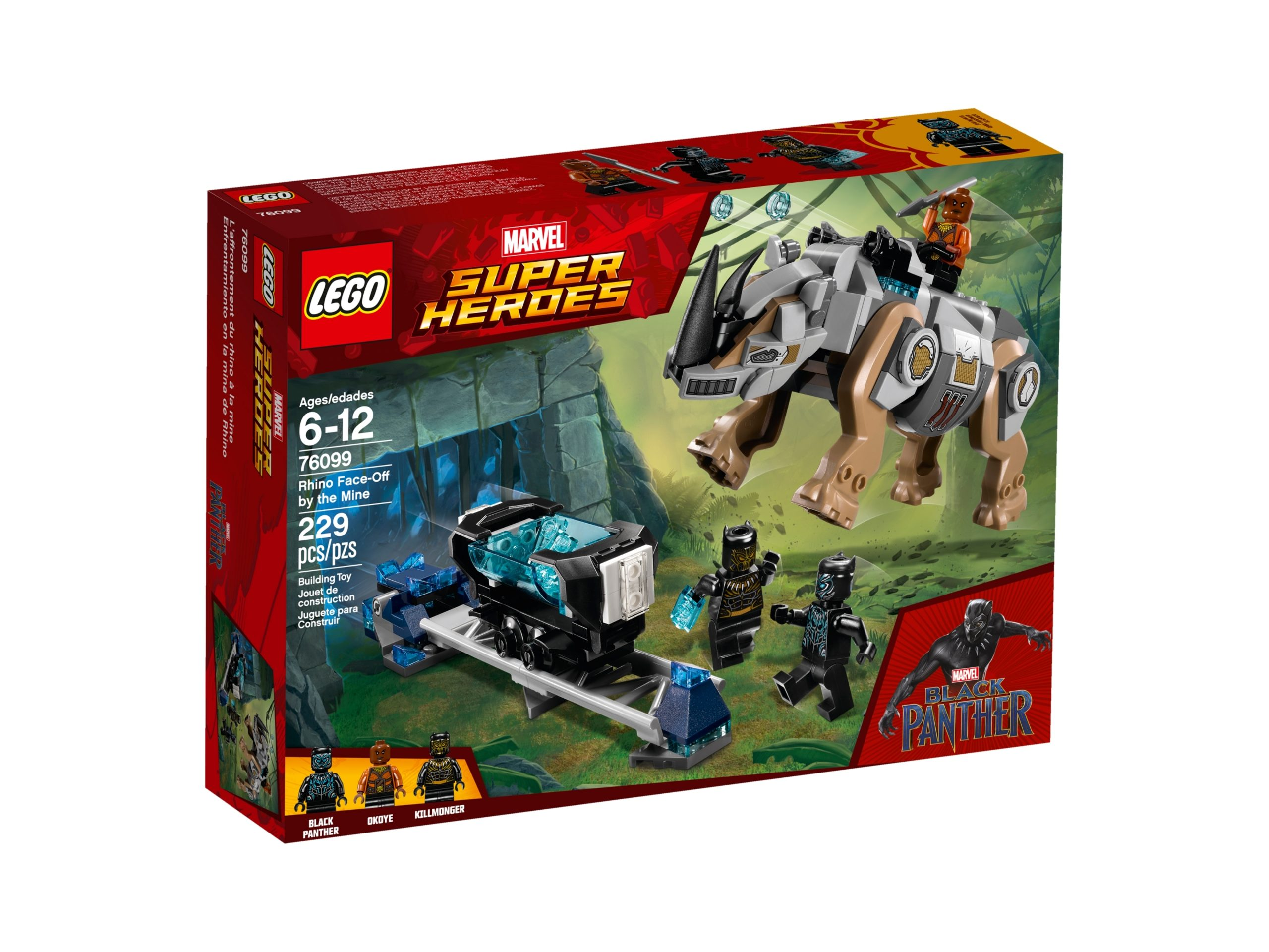 lego 76099 rhino face off by the mine scaled