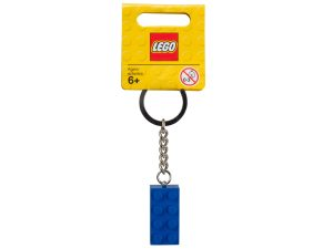 lego 850152 blue 2x4 stud key chain