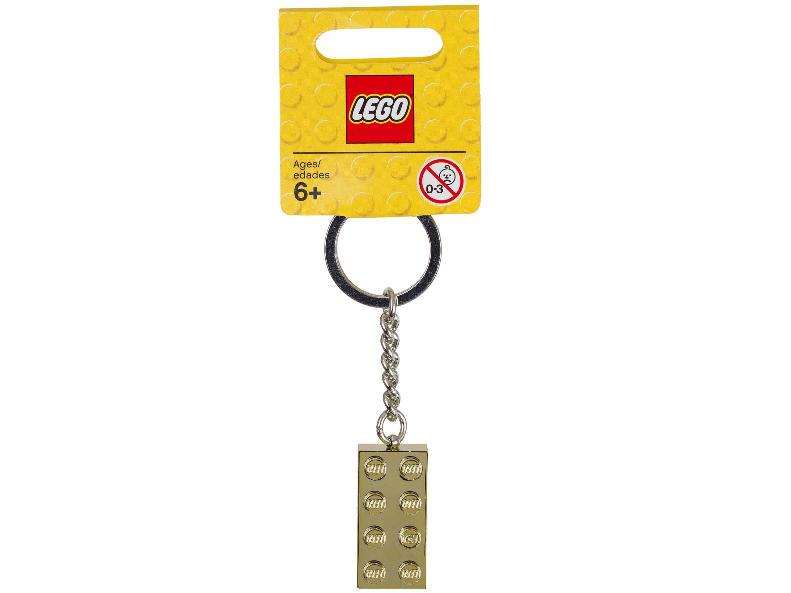 lego 850808 gold 2x4 stud key chain scaled
