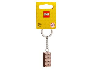 lego 853793 2x4 rose gold key chain