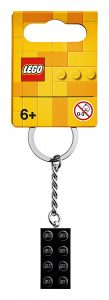 lego 853992 2x4 black metallic key chain