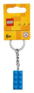 lego 853993 2x4 bright blue key chain
