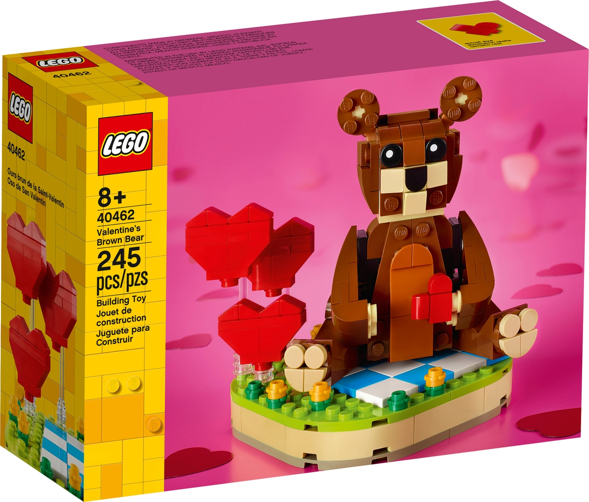 lego 40462 valentines brown bear