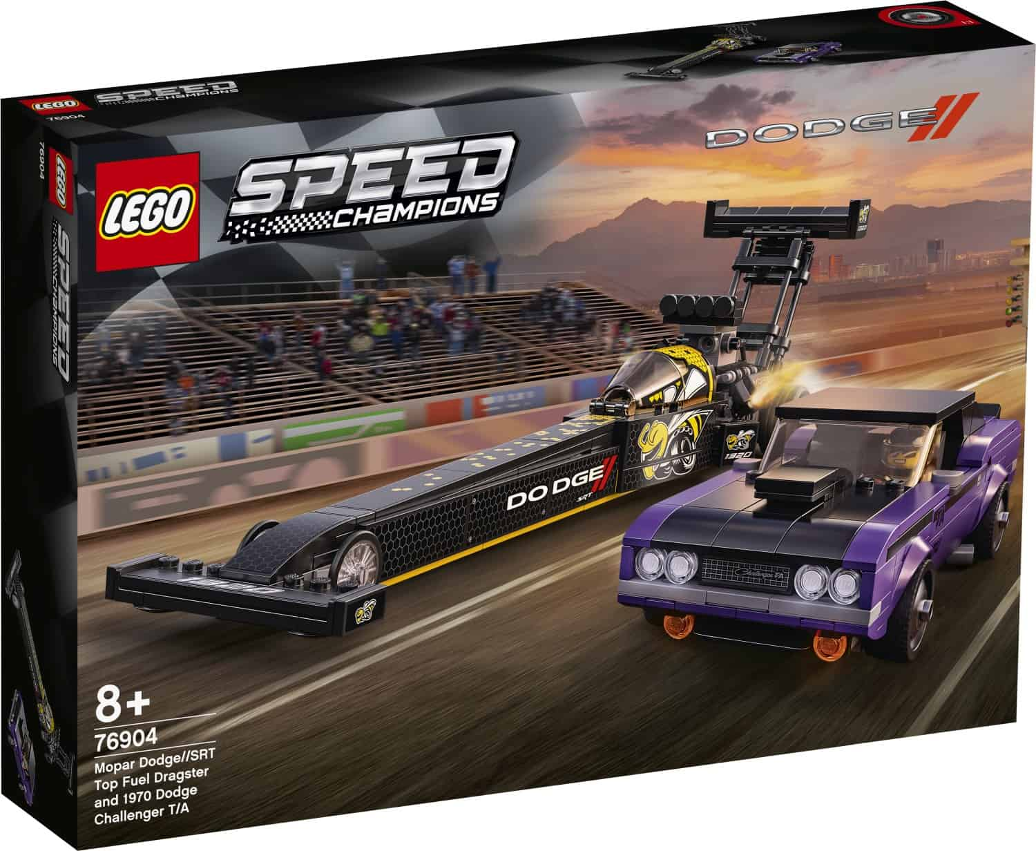 LEGO 76904 Mopar Dodge//SRT Top Fuel Dragster and 1970 Dodge Challenger T/A - 20210502