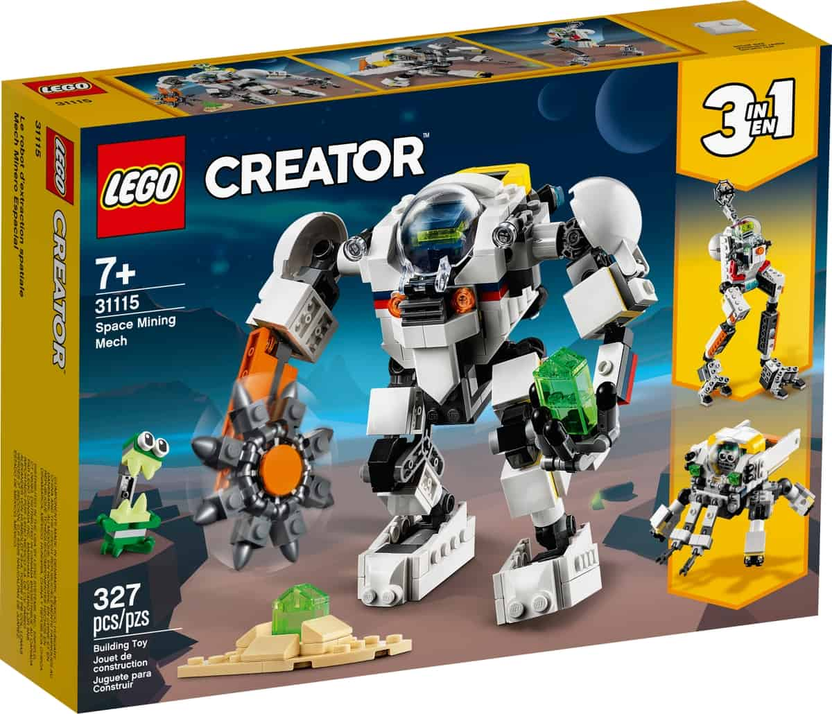 lego 31115 space mining mech