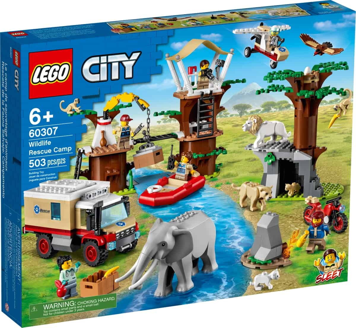 lego 60307 wildlife rescue camp