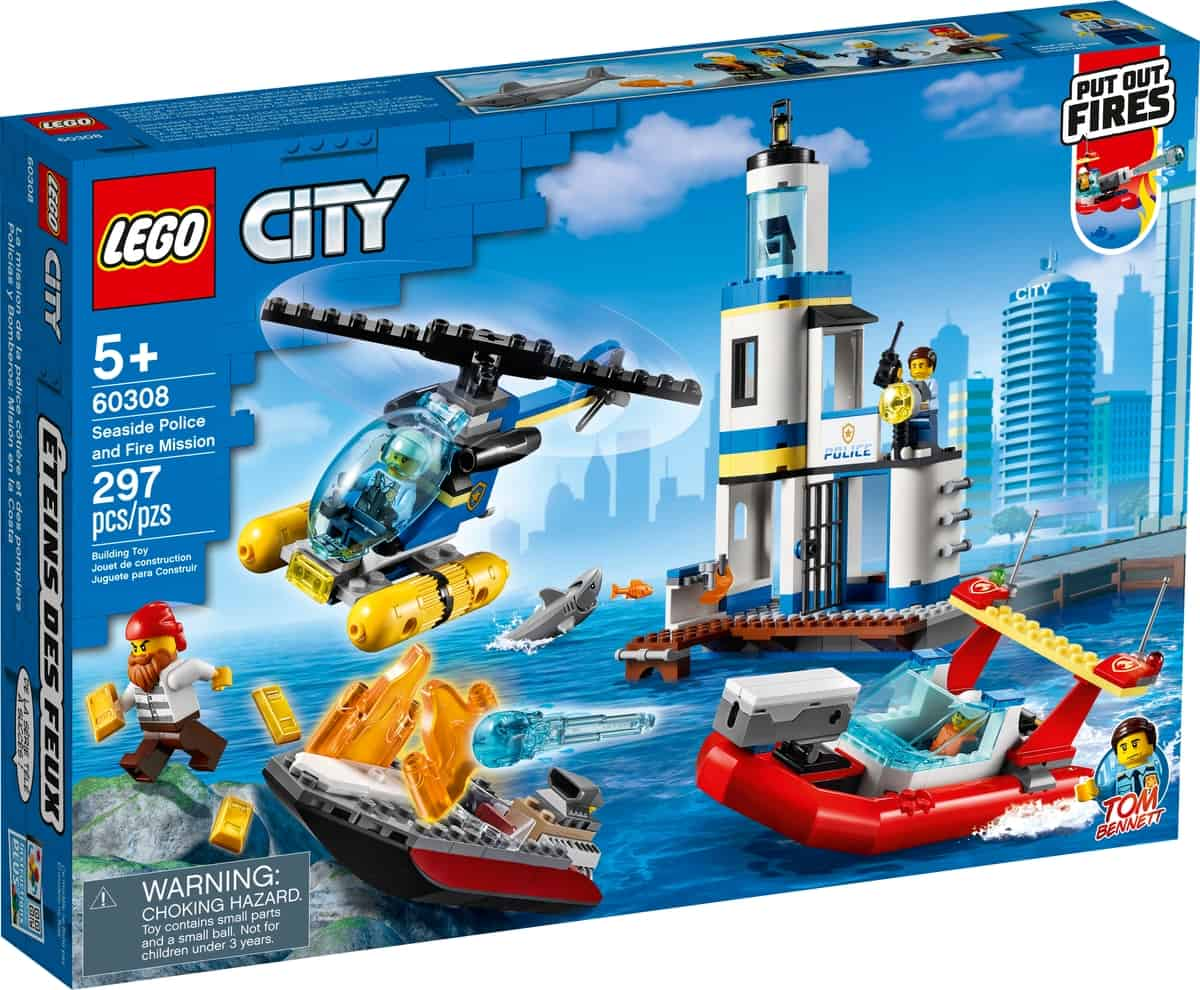 lego 60308 seaside police and fire mission