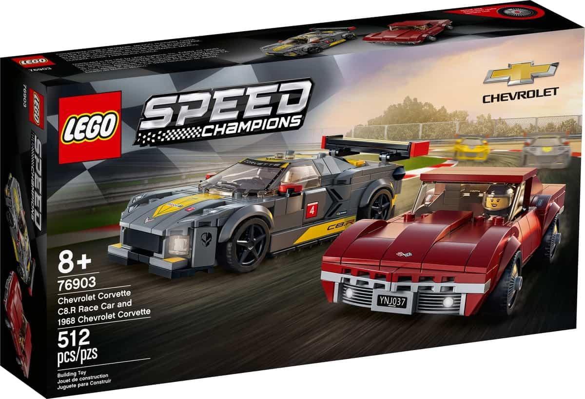 lego 76903 chevrolet corvette c8 r race car and 1968 chevrolet corvette