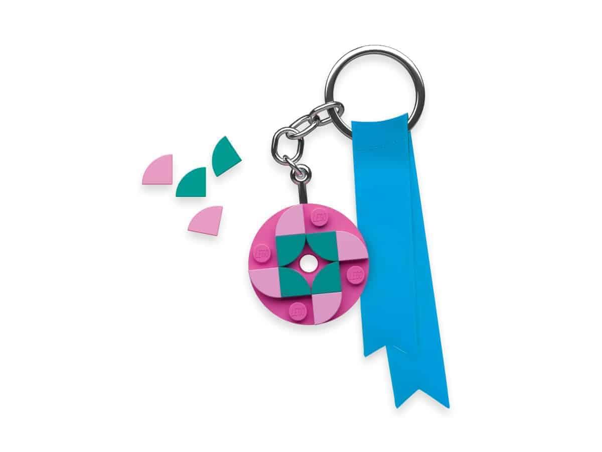 lego 5006278 round 4x4 key chain