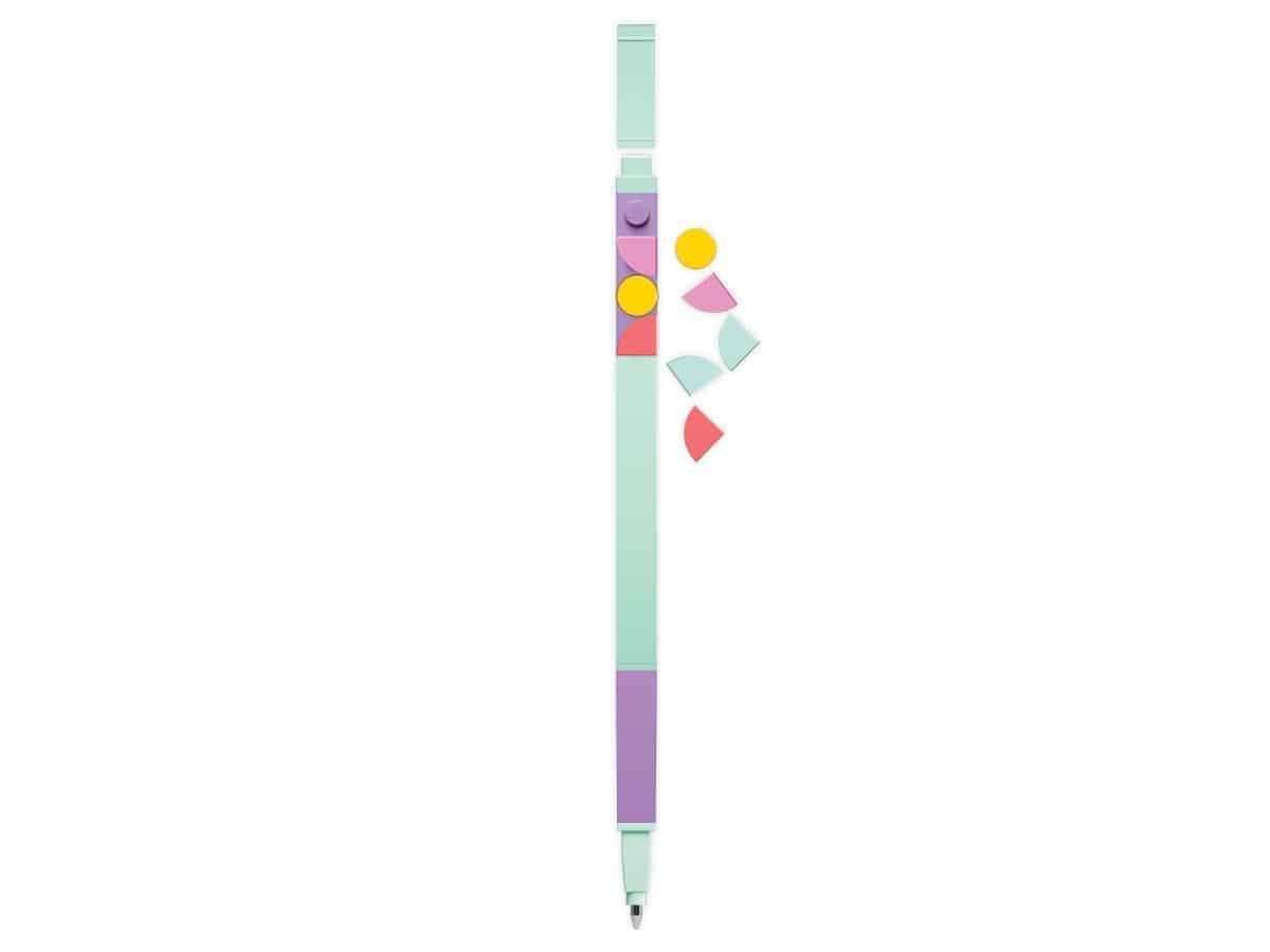lego 5006279 single gel pen with dots lavender