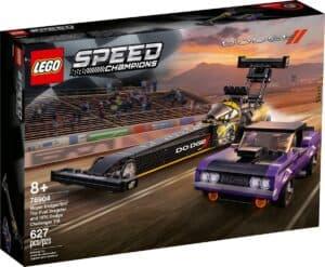 lego 76904 mopar dodge srt top fuel dragster and 1970 dodge challenger t a