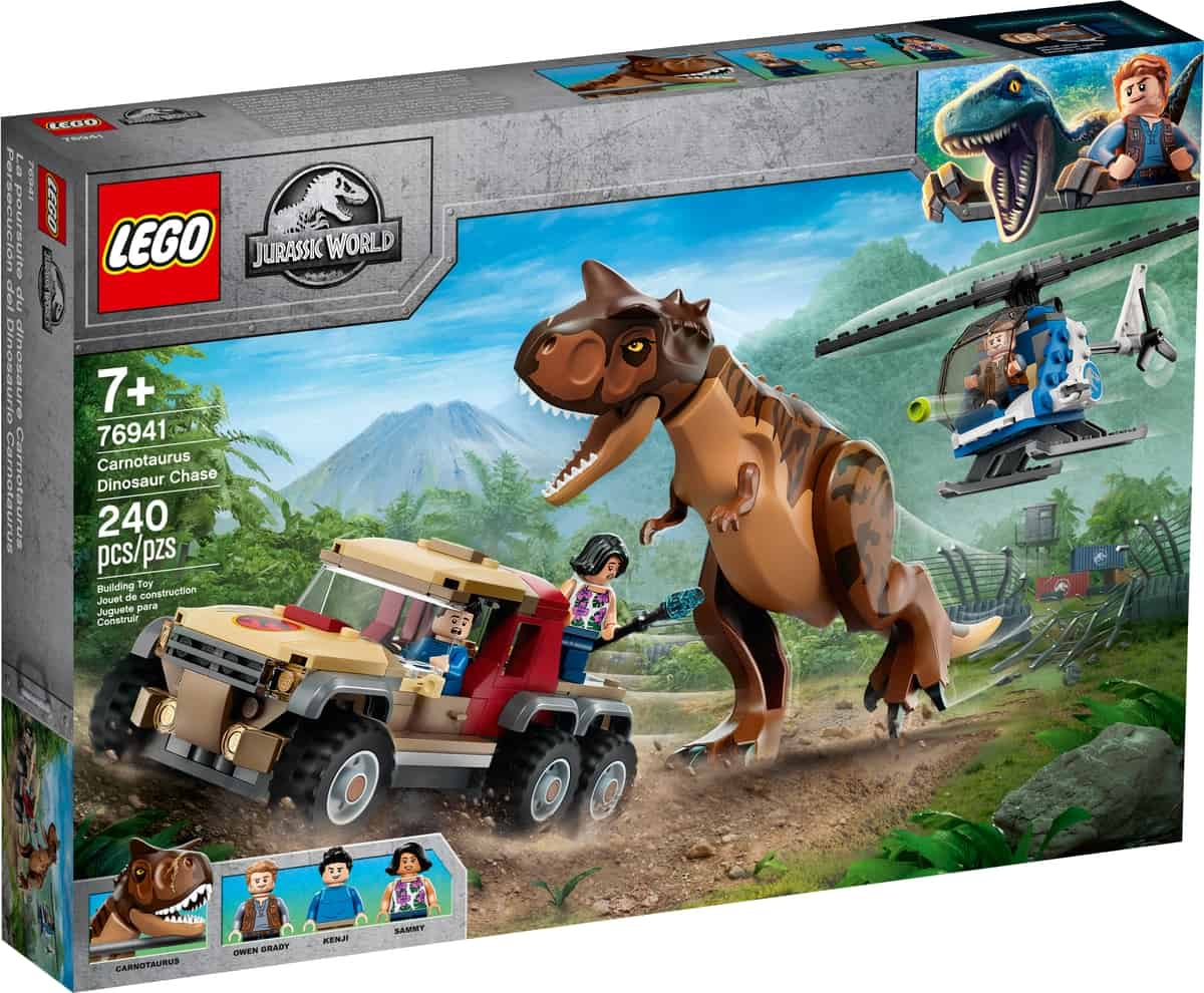 lego 76941 carnotaurus dinosaur chase