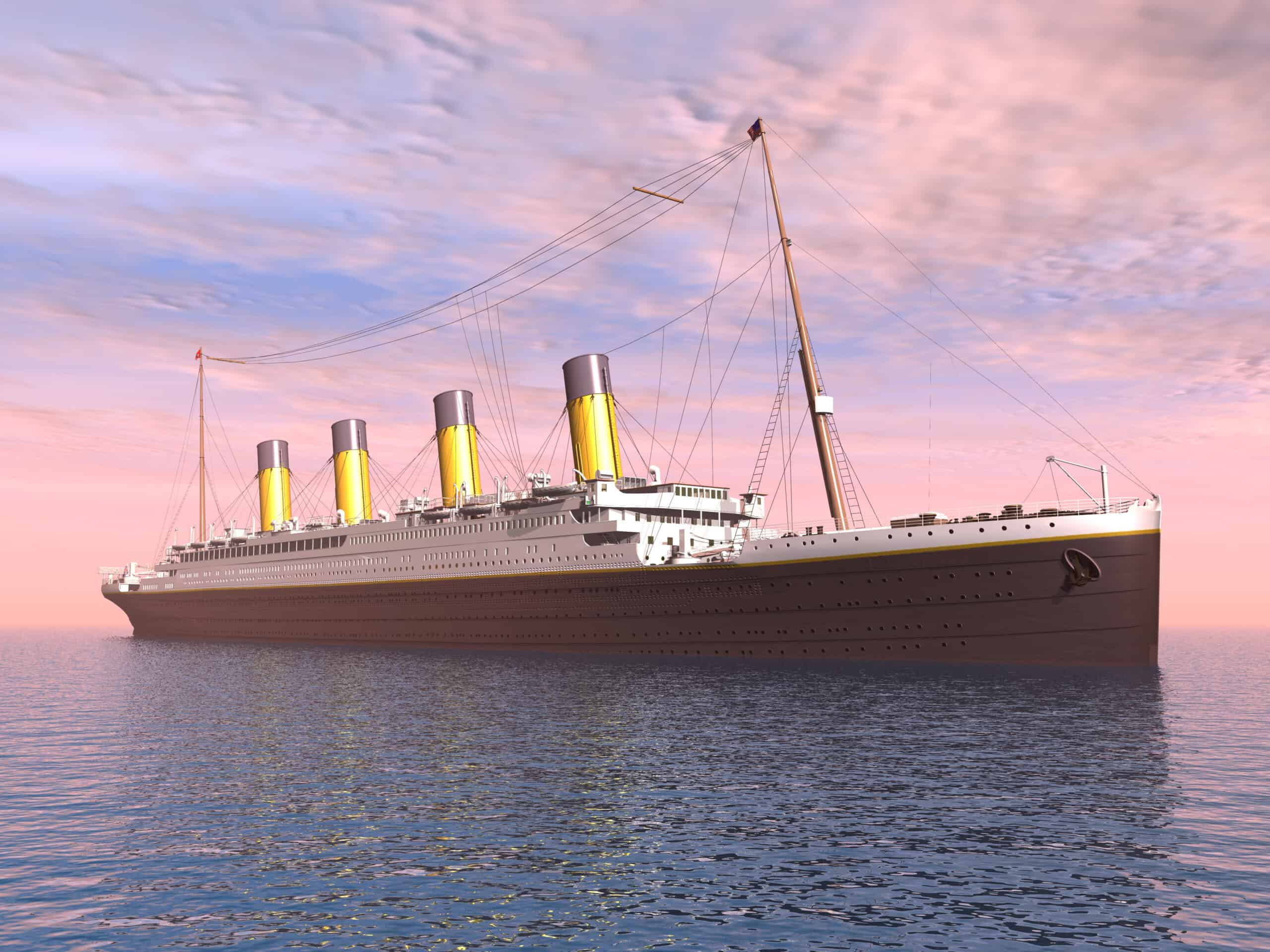 Computer generated 3D illustration from the Titanic