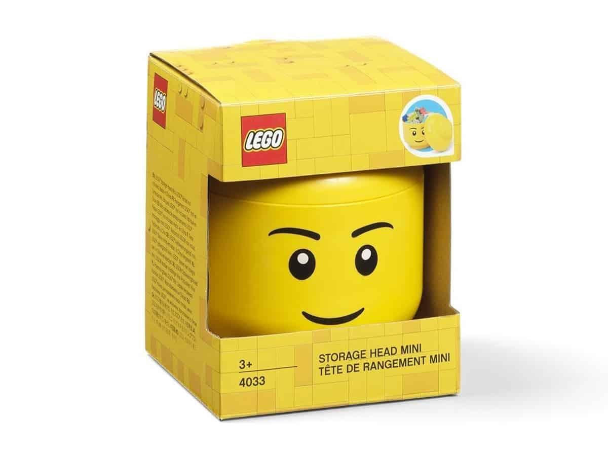 lego 5006258 mini storage head boy bright yellow